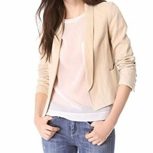 NWT Vince Size 8 Rustic Linen Blazer Stone